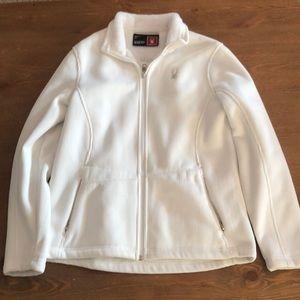 White, Spyder sweatshirt